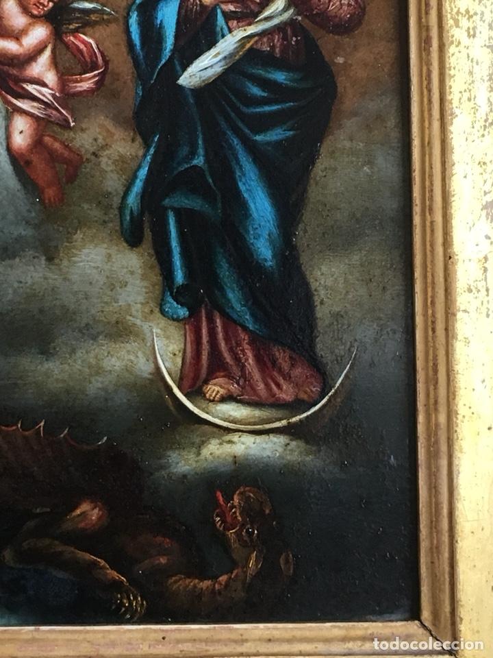 Arte: (M) COBRE PINTADO RELIGIOSO FINALES S.XVIII PRINCIPIOS S. XIX - Foto 7 - 150608178