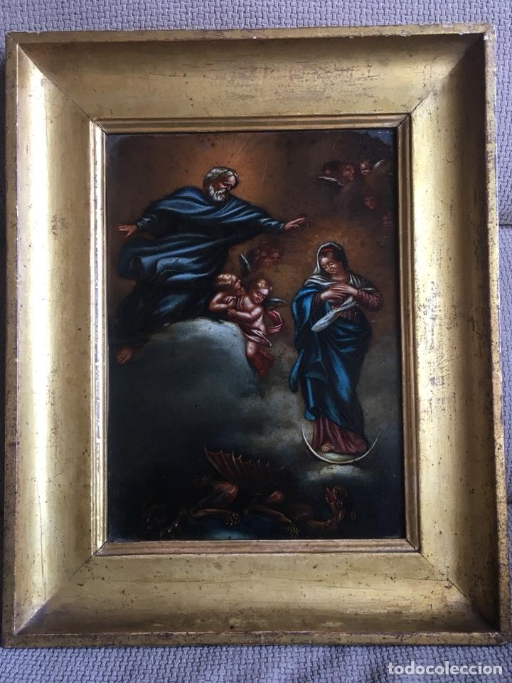 Arte: (M) COBRE PINTADO RELIGIOSO FINALES S.XVIII PRINCIPIOS S. XIX - Foto 8 - 150608178