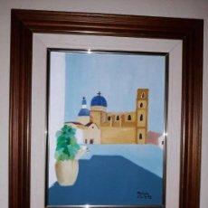 Arte: OLEO IMPRESIONISTA PAISAJE O VISTAS DE ALTEA? FIRMADO Y FECHADO. Lote 150624650