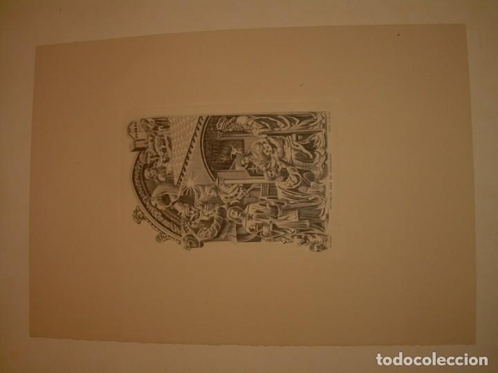 Arte: ANTIGUO GRABADO...P.JOHAN..... GRABADOR. O.G. OLIVA....RETABLO DE LA SEO DE ZARAGOZA. - Foto 2 - 150739594