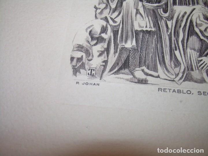 Arte: ANTIGUO GRABADO...P.JOHAN..... GRABADOR. O.G. OLIVA....RETABLO DE LA SEO DE ZARAGOZA. - Foto 5 - 150739594