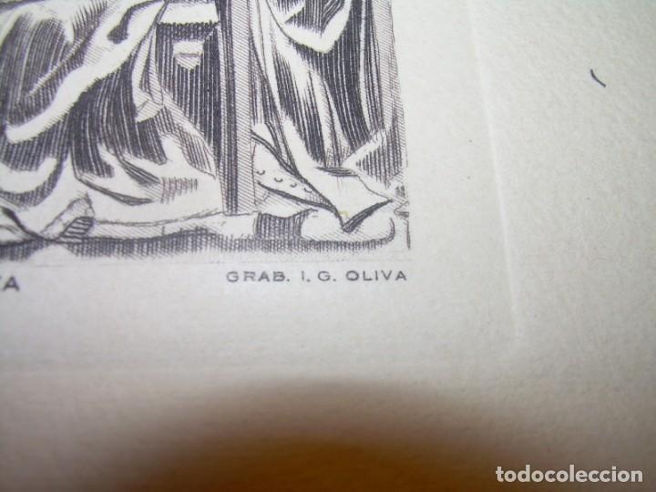 Arte: ANTIGUO GRABADO...P.JOHAN..... GRABADOR. O.G. OLIVA....RETABLO DE LA SEO DE ZARAGOZA. - Foto 6 - 150739594