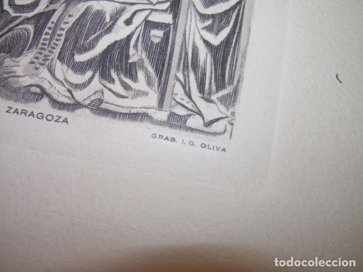 Arte: ANTIGUO GRABADO...P.JOHAN..... GRABADOR. O.G. OLIVA....RETABLO DE LA SEO DE ZARAGOZA. - Foto 8 - 150739594