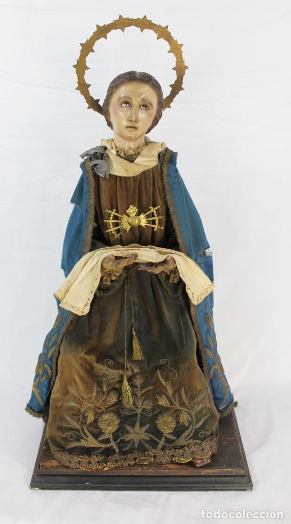VIRGEN DOLORES DOLOROSA CAPIPOTA GRAN MEDIDA AÑOS 1800 TALLA DE MADERA 68 CM, ARTICULADA (Arte - Arte Religioso - Escultura)