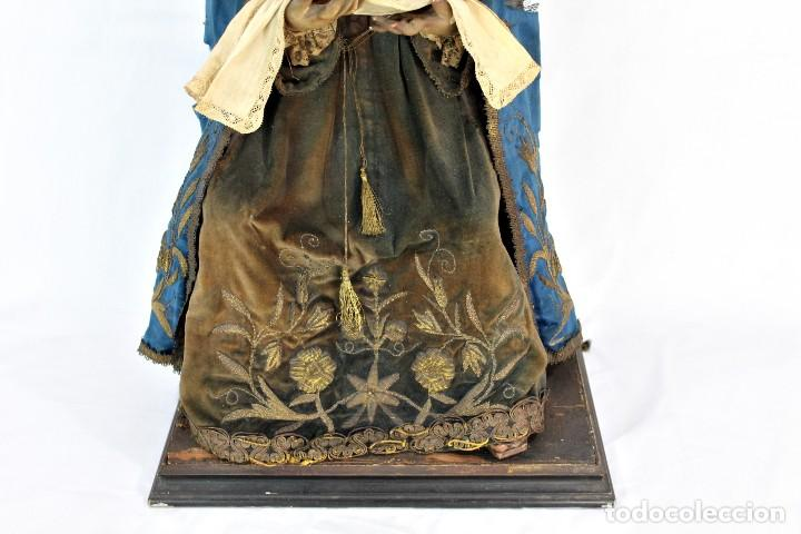 Arte: Virgen Dolores Dolorosa capipota gran medida años 1800 talla de madera 68 cm, articulada - Foto 2 - 150745434