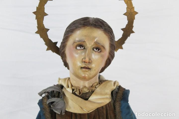 Arte: Virgen Dolores Dolorosa capipota gran medida años 1800 talla de madera 68 cm, articulada - Foto 4 - 150745434
