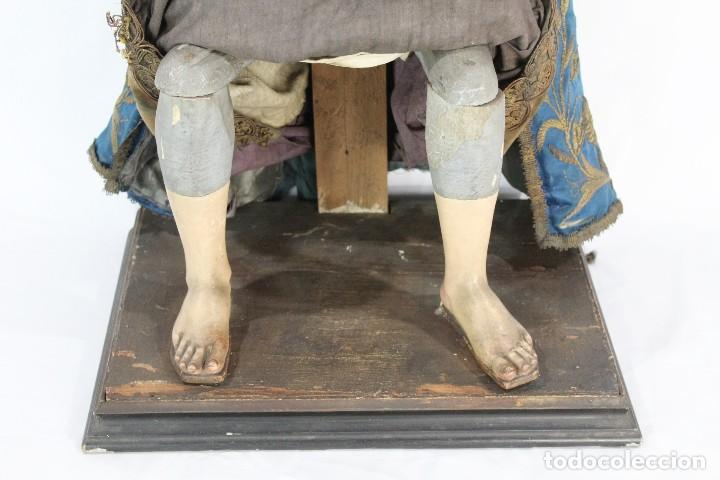 Arte: Virgen Dolores Dolorosa capipota gran medida años 1800 talla de madera 68 cm, articulada - Foto 5 - 150745434