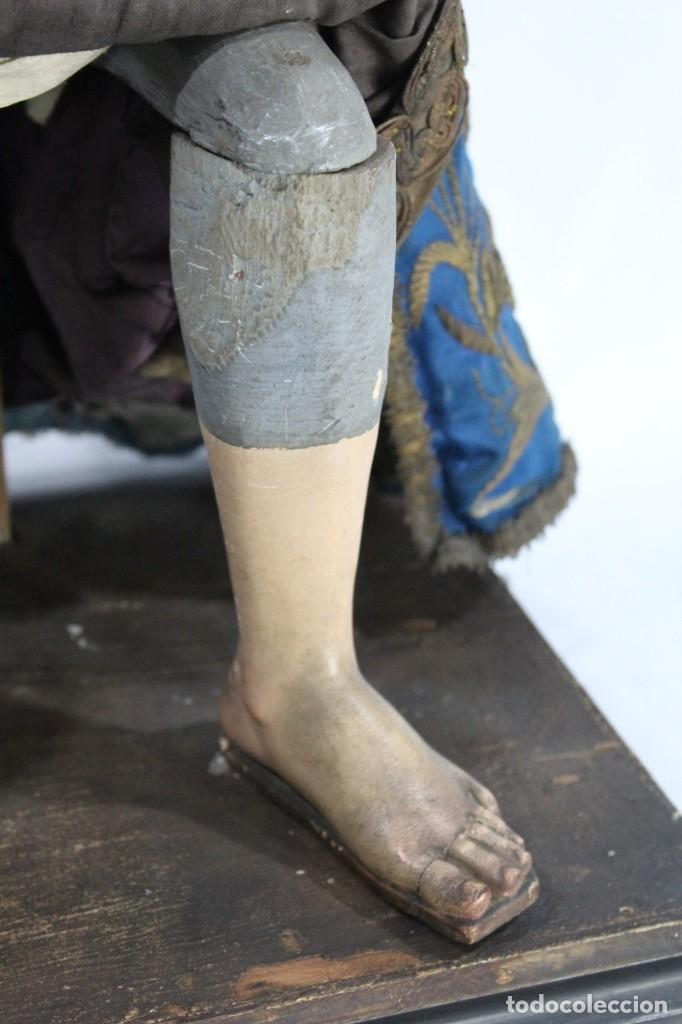 Arte: Virgen Dolores Dolorosa capipota gran medida años 1800 talla de madera 68 cm, articulada - Foto 6 - 150745434