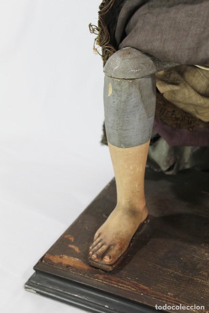 Arte: Virgen Dolores Dolorosa capipota gran medida años 1800 talla de madera 68 cm, articulada - Foto 7 - 150745434