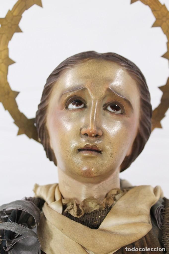 Arte: Virgen Dolores Dolorosa capipota gran medida años 1800 talla de madera 68 cm, articulada - Foto 9 - 150745434