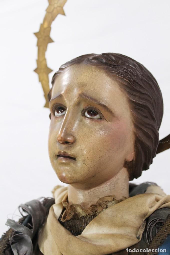 Arte: Virgen Dolores Dolorosa capipota gran medida años 1800 talla de madera 68 cm, articulada - Foto 10 - 150745434