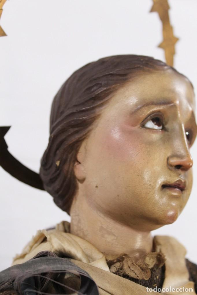 Arte: Virgen Dolores Dolorosa capipota gran medida años 1800 talla de madera 68 cm, articulada - Foto 11 - 150745434