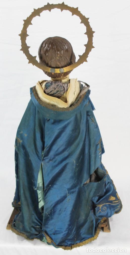 Arte: Virgen Dolores Dolorosa capipota gran medida años 1800 talla de madera 68 cm, articulada - Foto 14 - 150745434