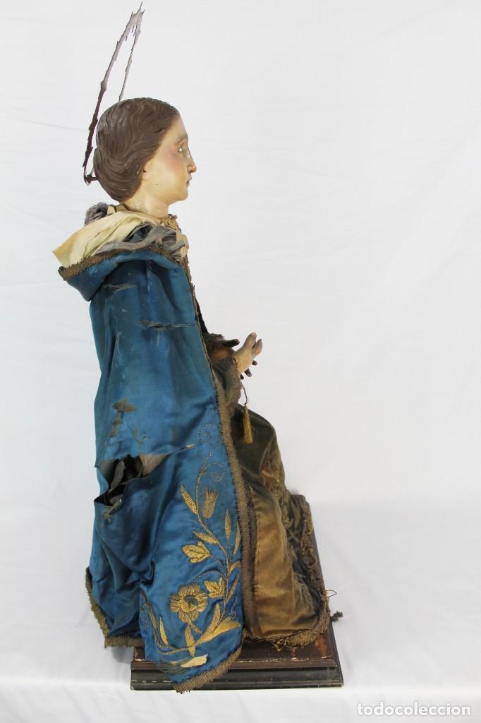 Arte: Virgen Dolores Dolorosa capipota gran medida años 1800 talla de madera 68 cm, articulada - Foto 15 - 150745434