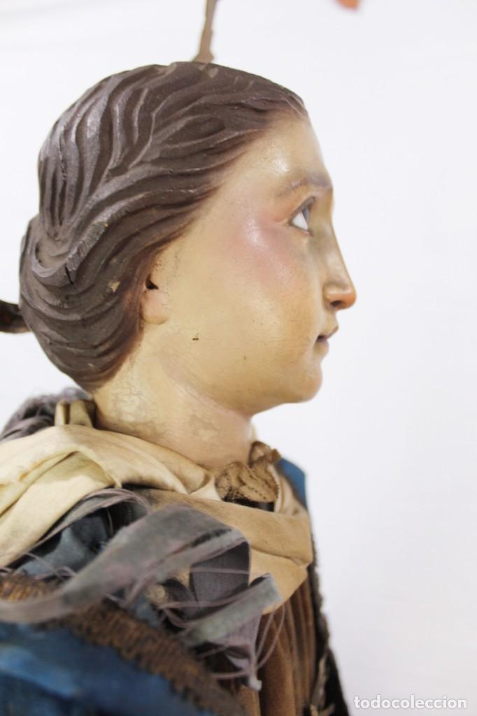 Arte: Virgen Dolores Dolorosa capipota gran medida años 1800 talla de madera 68 cm, articulada - Foto 16 - 150745434