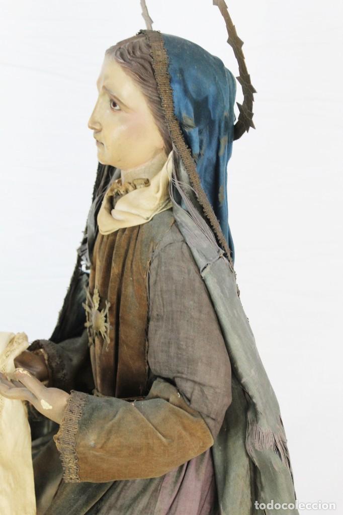 Arte: Virgen Dolores Dolorosa capipota gran medida años 1800 talla de madera 68 cm, articulada - Foto 18 - 150745434