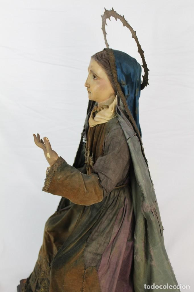 Arte: Virgen Dolores Dolorosa capipota gran medida años 1800 talla de madera 68 cm, articulada - Foto 19 - 150745434