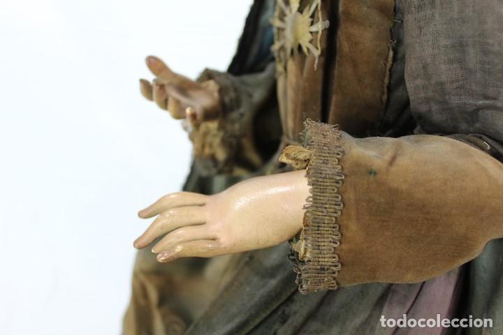 Arte: Virgen Dolores Dolorosa capipota gran medida años 1800 talla de madera 68 cm, articulada - Foto 20 - 150745434