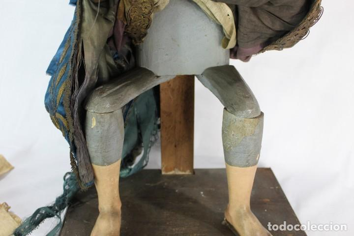 Arte: Virgen Dolores Dolorosa capipota gran medida años 1800 talla de madera 68 cm, articulada - Foto 21 - 150745434