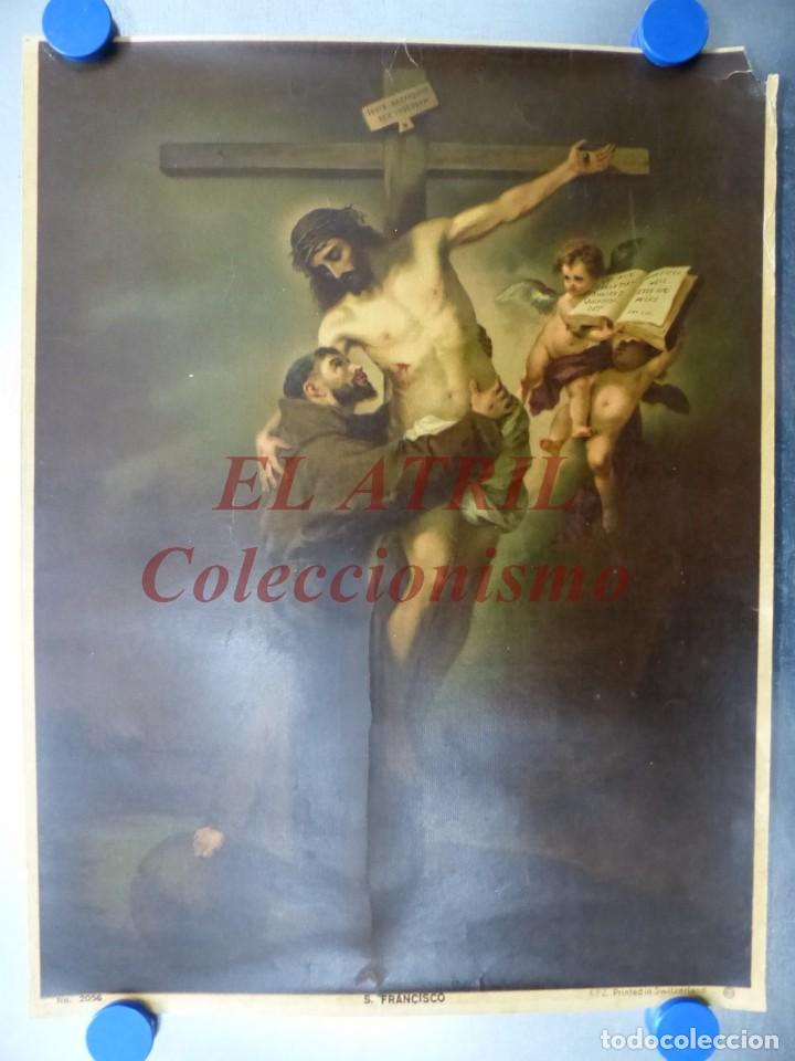 SAN FRANCISCO - ANTIGUA LITOGRAFIA - KFZ PRINTED IN SWITZERLAND (Arte - Arte Religioso - Litografías)