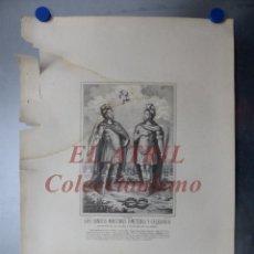 Arte: LOS SANTOS MARTIRES EMETERIO Y CELEDONIO - PATRONO DE CALAHORRA, RIOJA, R. SANCHIS, LITOGRAFIA. Lote 150775830