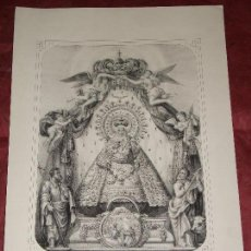 Arte: SIGLO XIX VIRGEN NUESTRA SEÑORA DE ATOCHA MADRID - RELIGION LITOGRAFIA. Lote 150806906
