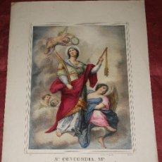 Arte: SIGLO XIX SANTA CONCORDIA MADRE DE LECHE DE HIPOLITO ABOGADA CAMINANTES - LIT. PASCUAL DE VALENCIA. Lote 150811986