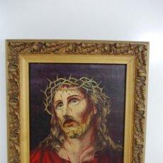 Arte - Antiguo cuadro al oleo Ecce Homo con firma - 150814858