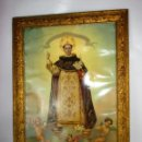 Arte: PRECIOSA IMAGEN SAN VICENTE SIGLO XIX EN MARCO ORIGINAL MADERA DORADA IDEAL PINTURA OLEO. Lote 151029274