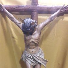 Arte: ESPECTACULAR CRUCIFIJO CRISTO CRUCIFICADO MADERA. Lote 151031066