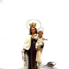Arte: VIRGEN CON NIÑO, VIRGEN DEL CARMEN, MARÍA MADRE, ESCULTURA SANTA MARÍA, ESTATUA RELIGIOSA. Lote 151233042