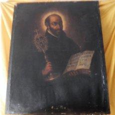 Arte: IMPRESIONANTE OLEO SOBRE TELA DEL SIGLO XVII - IMAGEN MISTICA SAN IGNACIO - ESCUELA SEVILLANA.. Lote 151327018