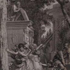 Arte: LOS ISRAELITAS DESTRUYEN LOS ÍDOLOS. TOMÁS LÓPEZ ENGUIDANOS. H. 1790-1794. BIBLIA. GRABADO. Lote 151336114