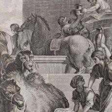 Arte: CIRO Y LOS ISRAELITAS. FRANCISCO UGENA. H. 1790-1794. BIBLIA. GRABADO. NEOCLASICISMO. CARLOS IV.. Lote 151336282