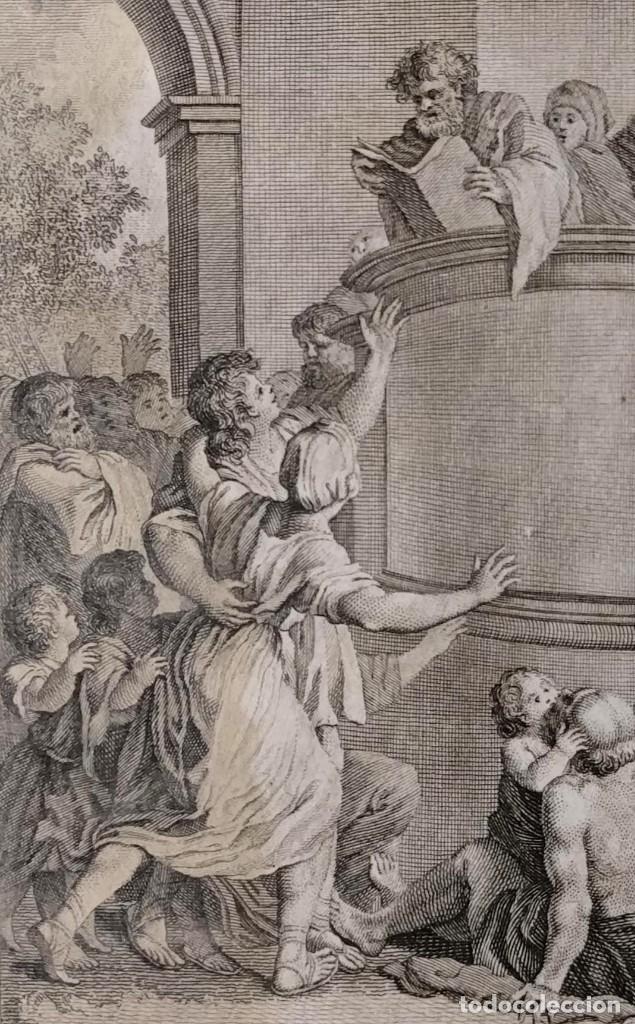 ESDRAS EXPLICA LA LEY. FRANCISCO SURIÁ. H. 1790-1794. BIBLIA. GRABADO. NEOCLASICISMO. CARLOS IV. (Arte - Arte Religioso - Grabados)
