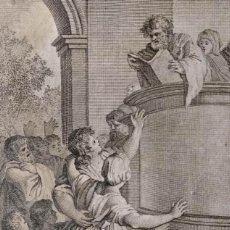 Arte: ESDRAS EXPLICA LA LEY. FRANCISCO SURIÁ. H. 1790-1794. BIBLIA. GRABADO. NEOCLASICISMO. CARLOS IV.. Lote 151336514
