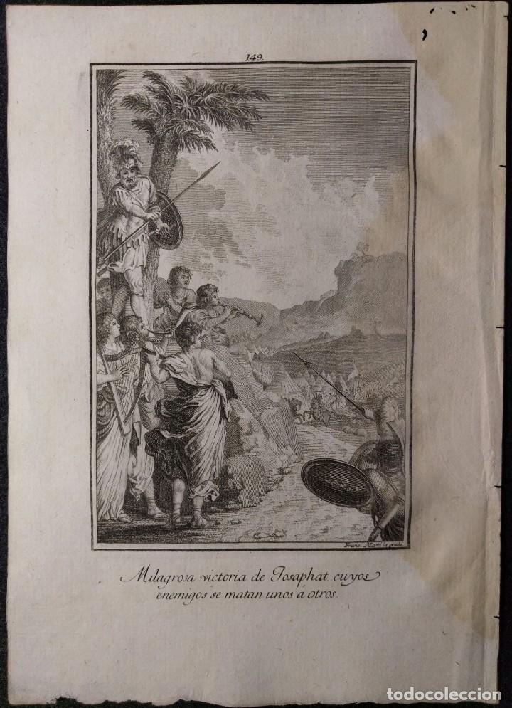 Arte: Victoria de Josaphat. Francisco de Paula Martí. H. 1790-1794. Biblia. Grabado. Neoclasicismo. - Foto 2 - 151336562