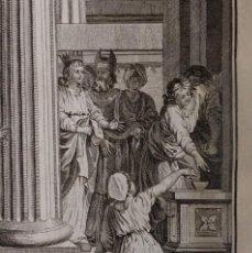 Arte: JOAS REPARA EL TEMPLO DEL SEÑOR. JOSÉ FONSECA H 1790-1794. BIBLIA. GRABADO. NEOCLASICISMO. CARLOS IV. Lote 151336678