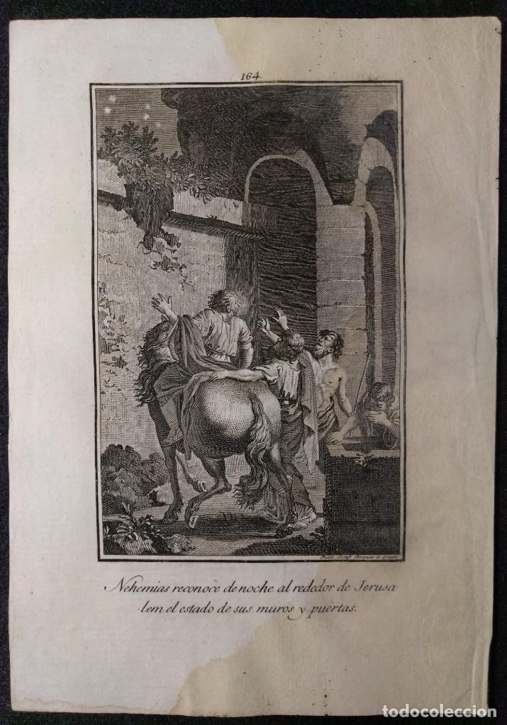 Arte: Nehemias. Jerusalem. Juan José Becquer. H. 1790-1794. Biblia. Grabado. Neoclasicismo. Carlos IV - Foto 2 - 151336742