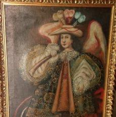 Arte: OLEO SOBRE LIENZO ANGEL ARCABUCERO ARTE CUZQUEÑO SIGLO XX. Lote 151430322
