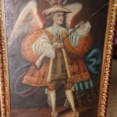 Arte: OLEO SOBRE LIENZO ARCANGEL ARCABUCERO ESCUELA CUZQUEÑA. Lote 151431866
