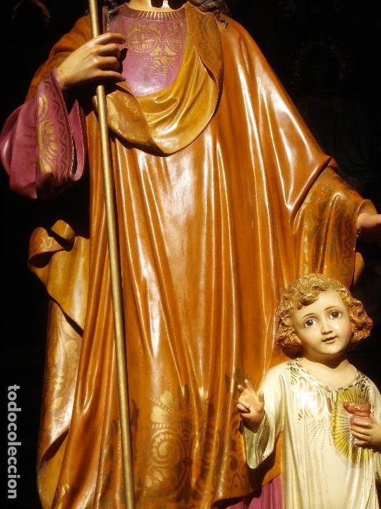 Arte: LAS ARTES RELIGIOSAS GRANDES MEDIDAS PARA ALTAR SAN JOSE CON NIÑO PASTA DE MADERA - Foto 7 - 151478166