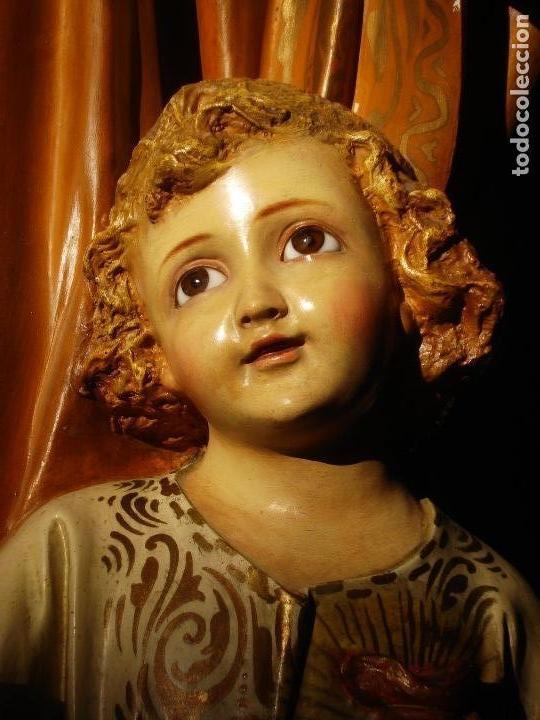 Arte: LAS ARTES RELIGIOSAS GRANDES MEDIDAS PARA ALTAR SAN JOSE CON NIÑO PASTA DE MADERA - Foto 13 - 151478166