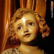 Arte: LAS ARTES RELIGIOSAS GRANDES MEDIDAS PARA ALTAR SAN JOSE CON NIÑO PASTA DE MADERA. Lote 151478166