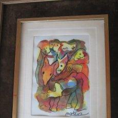 Arte: FRANCISCO MATEOS. ACUARELA. Lote 151491198