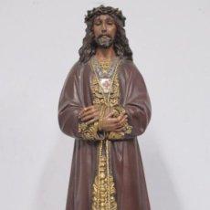 Arte: BONITO JESUS DE MEDINACELI. OJOS DE CRISTAL. OLOT. Lote 151492774