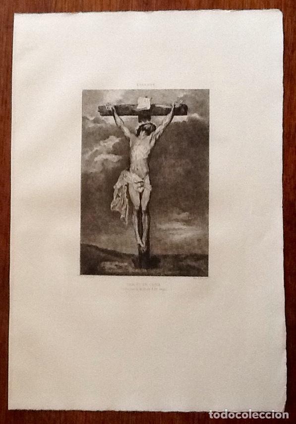 LITOGRAFIA. A VAN DYCK. CRISTO EN LA CRUZ. ..ENVIO CERTIFICADO INCLUIDO. (Arte - Arte Religioso - Litografías)