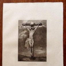 Arte: LITOGRAFIA. A VAN DYCK. CRISTO EN LA CRUZ. ..ENVIO CERTIFICADO INCLUIDO.. Lote 151514238