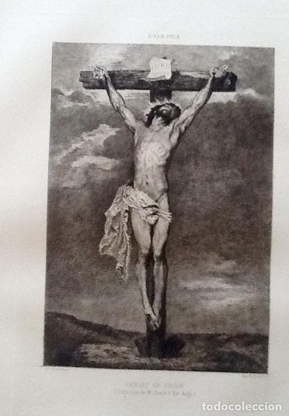 Arte: LITOGRAFIA. A VAN DYCK. CRISTO EN LA CRUZ. ..ENVIO CERTIFICADO INCLUIDO. - Foto 2 - 151514238