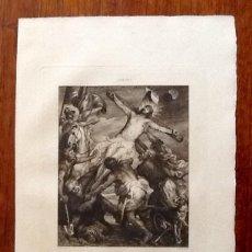Arte: LITOGRAFIA. A VAN DYCK. CRISTO EN LA CRUZ...ENVIO CERTIFICADO INCLUIDO.. Lote 151514570